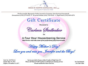 Gift Certificates - best gift for mothers day, valentines, mom, her