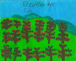 lots of plants painting blue sky hills.j