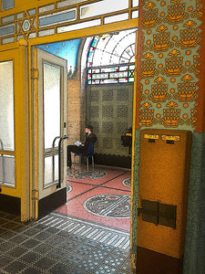 Studying in a Synagogue
