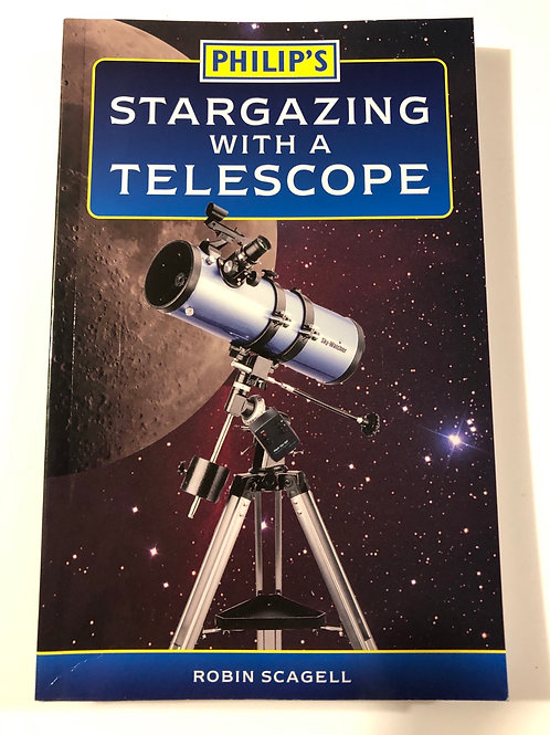 Stargazing with a telescope.