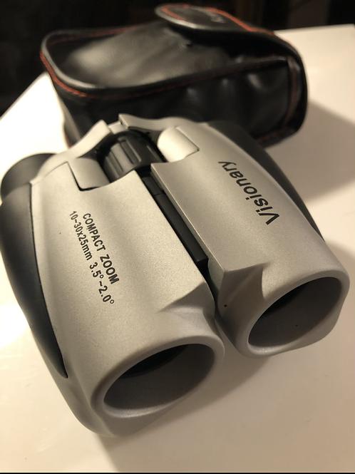 Visionary pocket zoom binoculars