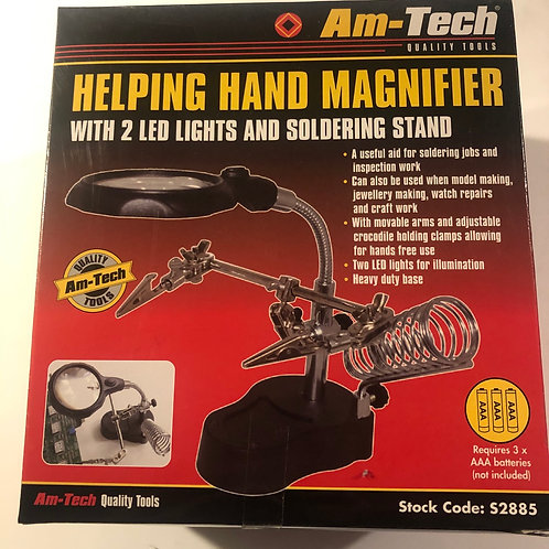 Amtech helping hand magnifier with 2 led lights