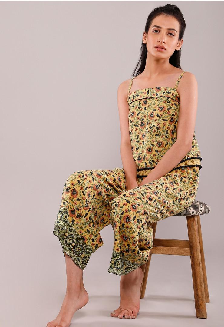 Floral jumpsuit by Ratan textiles