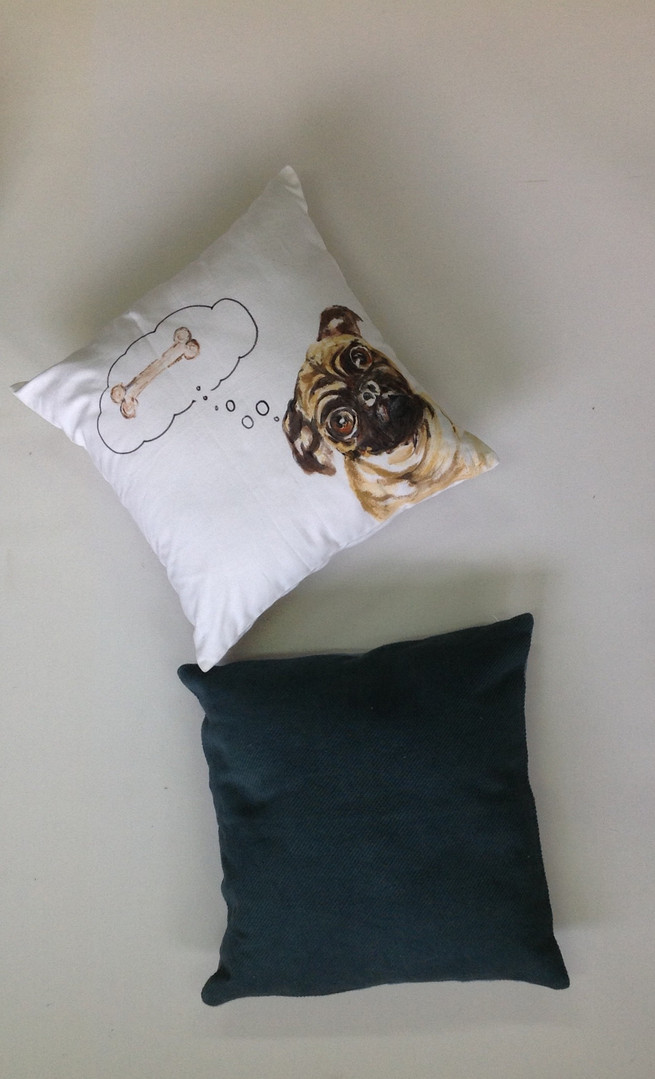 Handpainted cushion covers