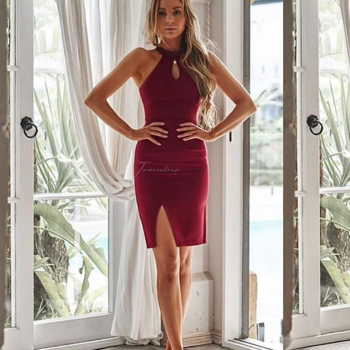 Two Sisters Deep Red Dress