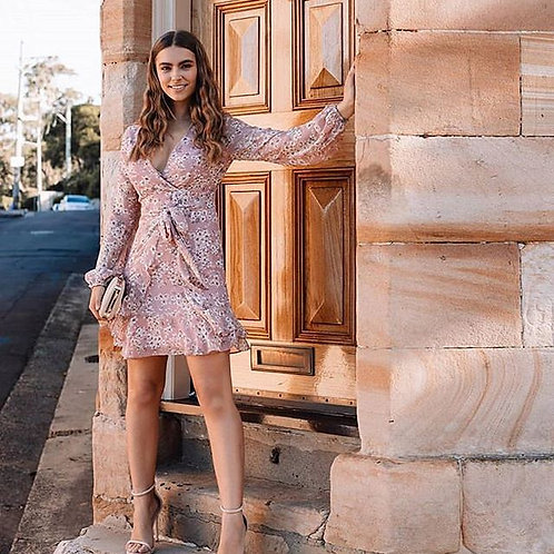 Style State Floral Blush Sleeve Dress