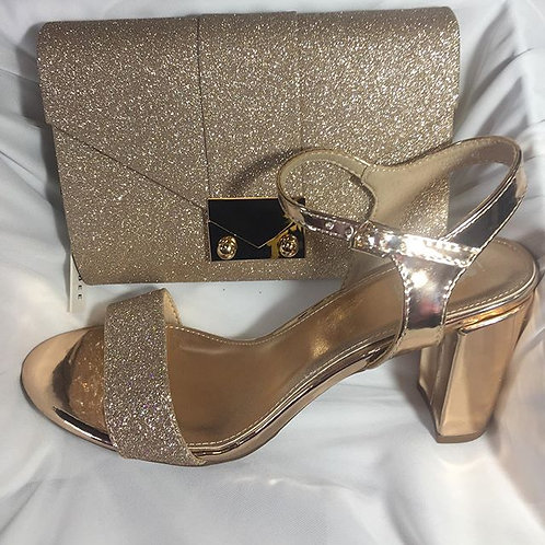 Rose Gold Clutch & Shoes