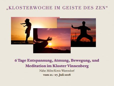 """""""Klosterwoche im Geiste des Zen""""   Aktuell sind noch Buchungen möglich!"""