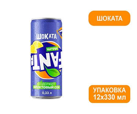 Упаковка Fanta Шоката. Ж/б. 330 мл