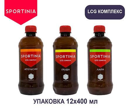 Упаковка Sportinia LCG Complex. ПЭТ. 400 мл. (Апельсин, груша, лайм)