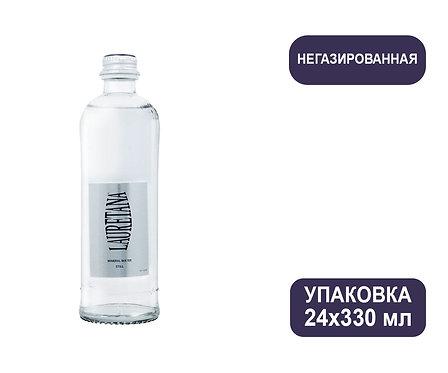 Упаковка воды Lauretana Pininfarina Design. Италия. Без газа, 330 мл. Стекло