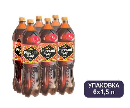 Упаковка Квас Русский Дар. ПЭТ. 1,5 л.