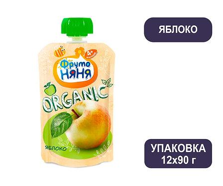 Коробка ФрутоНяня Пюре яблочное натуральное. Гуала Пак. 90 г.
