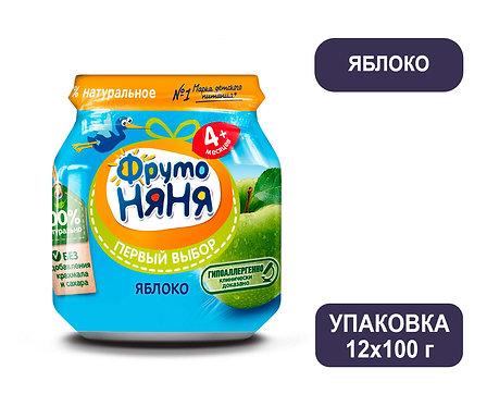 Упаковка ФрутоНяня Пюре яблочное натуральное. Стекло. 100