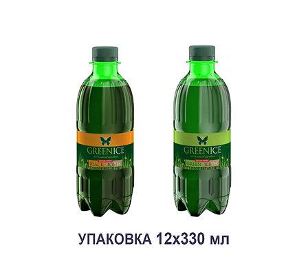 Упаковка GREENICE TEA. ПЭТ. 330 мл. (зелёный и чёрный чай)