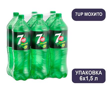 Упаковка 7UP Мохито. ПЭТ. 1,5 л.