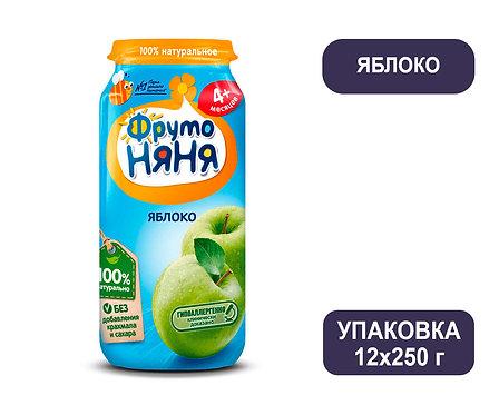 Упаковка ФрутоНяня Пюре яблочное натуральное. Стекло. 250 г.