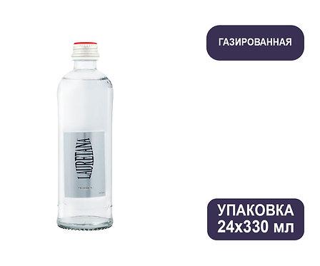 Упаковка воды Lauretana Pininfarina Design. Италия. С газом, 330 мл. Стекло