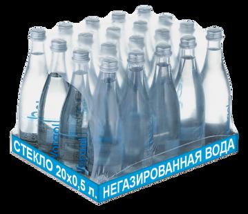 Упаковка негазированной воды Vorgol стекло 0,5 л