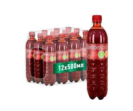Упаковка Laimon Spicy. ПЭТ. 500 мл.