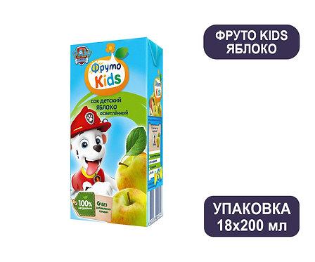 Коробка ФрутоНяня ФрутоKids Сок яблочный осветленный. Тетра-пак. 200 мл.