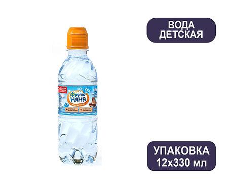 Упаковка ФрутоНяня Детская вода. ПЭТ. 330 мл.