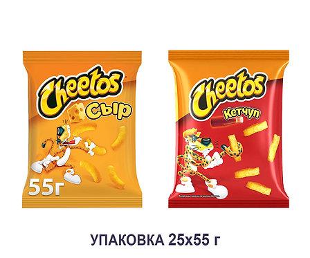 Коробка Cheetos. 55 г. (сыр, кетчуп)