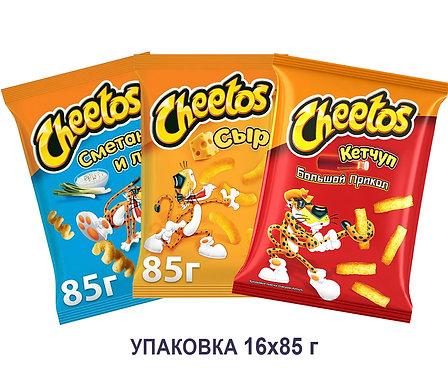 Коробка Cheetos. 85 г. (сыр, сметана&лук, кетчуп большой прикол)