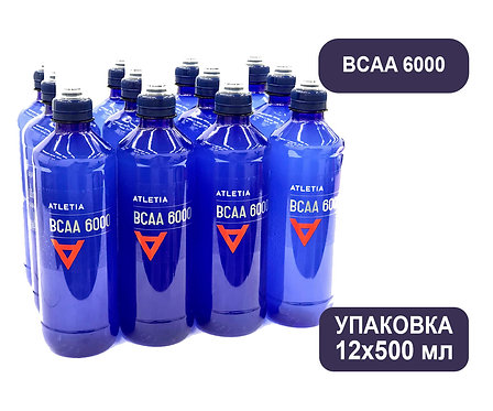 Упаковка ATLETIA BCAA 6000. ПЭТ. 500 мл