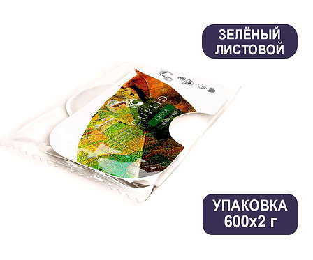 Упаковка Cuplid. Чай зелёный листовой. Пакетированный. 2г. 600 шт