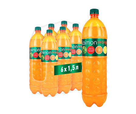 Упаковка Laimon Orange. ПЭТ. 1,5 л.