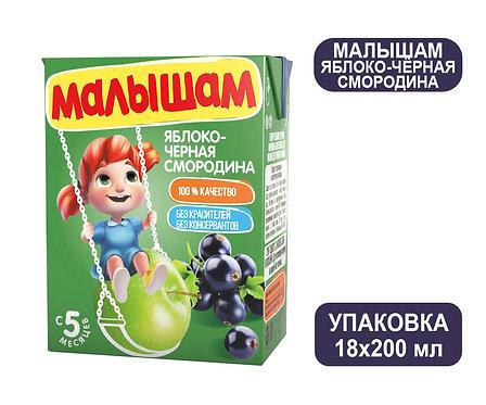 Коробка ФрутоНяня Малышам Нектар из яблок и черной смородины. Тетра-пак. 200 мл.