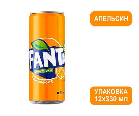 Упаковка Fanta. Ж/б. 330 мл