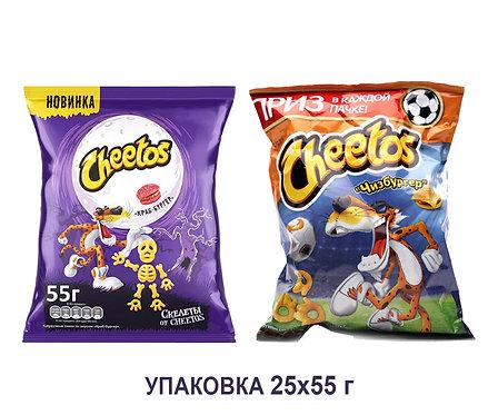 Коробка Cheetos. 55 г. (чизбургер, краб-бургер)