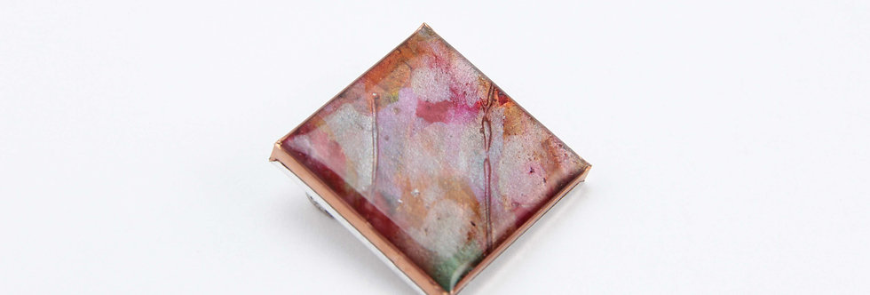 'Old Wall' Square Brooch