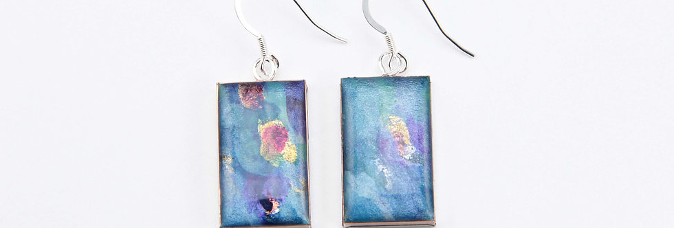 'Morning Glory' Large Rectangular Earrings