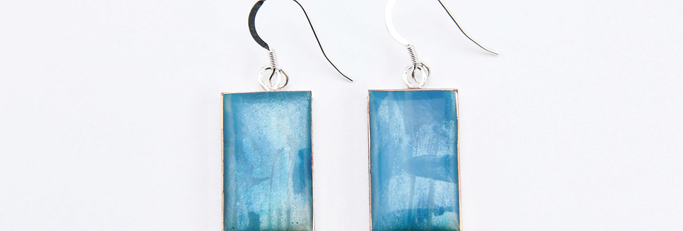 'Horizon' Large Rectangular Earrings