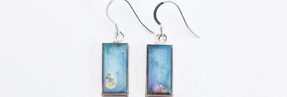 'Morning Glory' Small Rectangular Earrings
