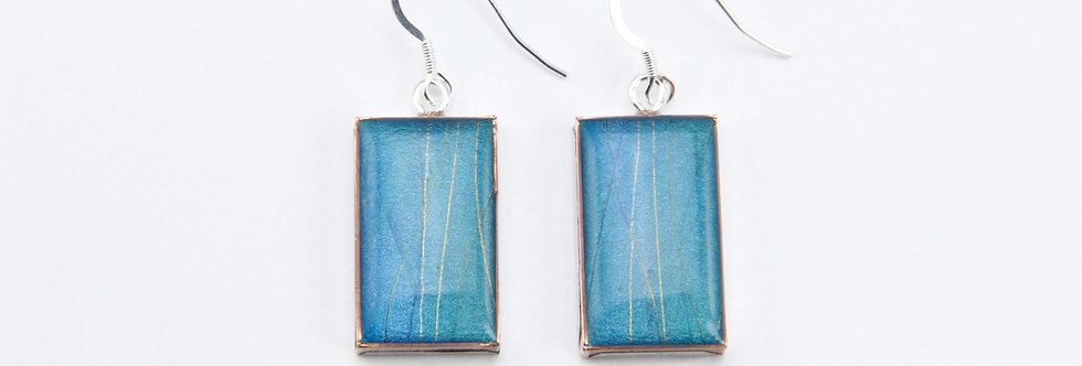 'Ferry' Large Rectangular Earrings