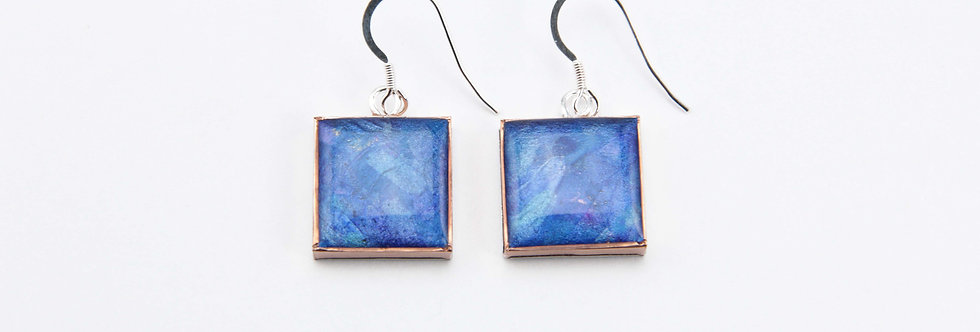'The Seahorse' Large Square Earrings