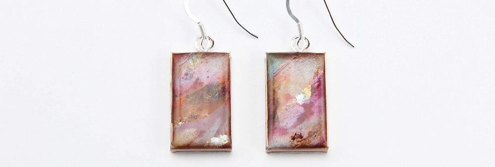 'The Old Wall' Large Rectangular Earrings