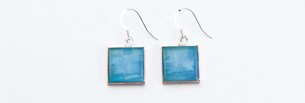 'Horizon' Large Square Earrings