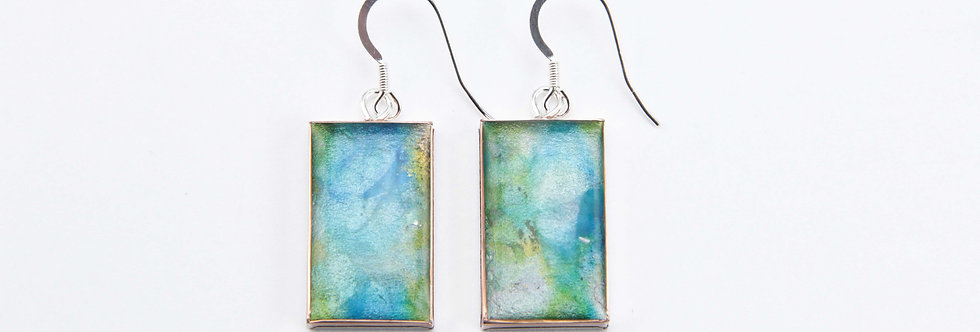 'The Garden' Large Rectangular Earrings