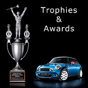 Custom trophies, custom awards, prop trophies, prop awards, VW hands, Nascar 400 trophy, Leo Burnett pitch of the year award, mini cooper trophy, grace college mace