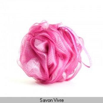 Fleur de douche rose- blanc