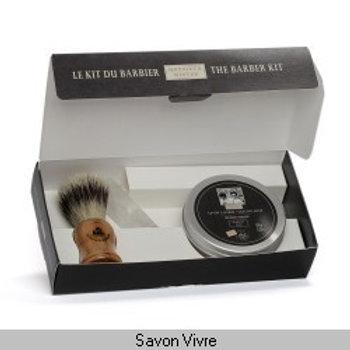 Kit blaireau-pierre d'alun-savon à barbe 150g gamme MISTER