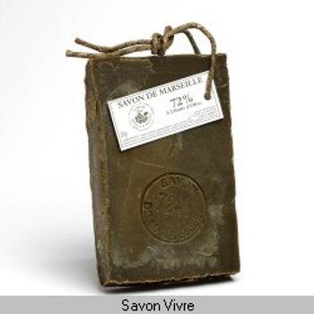 Savon de Marseille tranche de 250g 72% d'huile d'olive