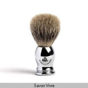 Blaireau poils de blaireau manche métal gamme REBEL