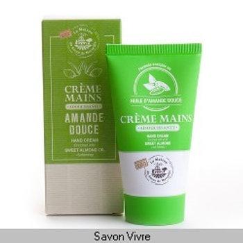 Crème main tube de 75ml huile d'amande douce