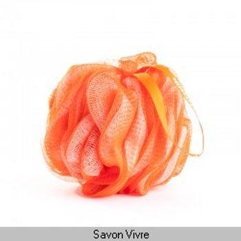 Fleur de douche orange-blanc